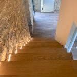 escalier et placncher bois